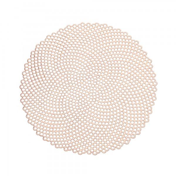Tischsets 6er-Set Platzsets 38 cm Rund Elegance in Messing