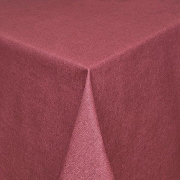 Tischdecken Olbia Jaquard-Gewebe in Rubin-Rot mit Fleckschutz