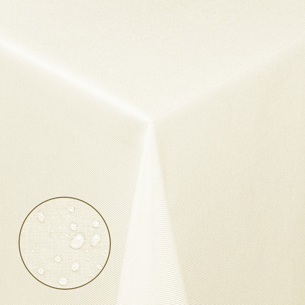 Tischdecken Damast Eckig Leinen Meliert wasserabweisend Creme-Champagner