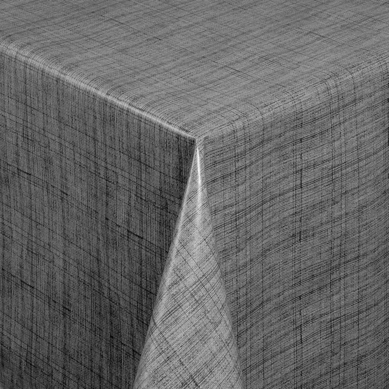tischdecke abwaschbar wachstuch linien motiv grau im wunschma. Black Bedroom Furniture Sets. Home Design Ideas