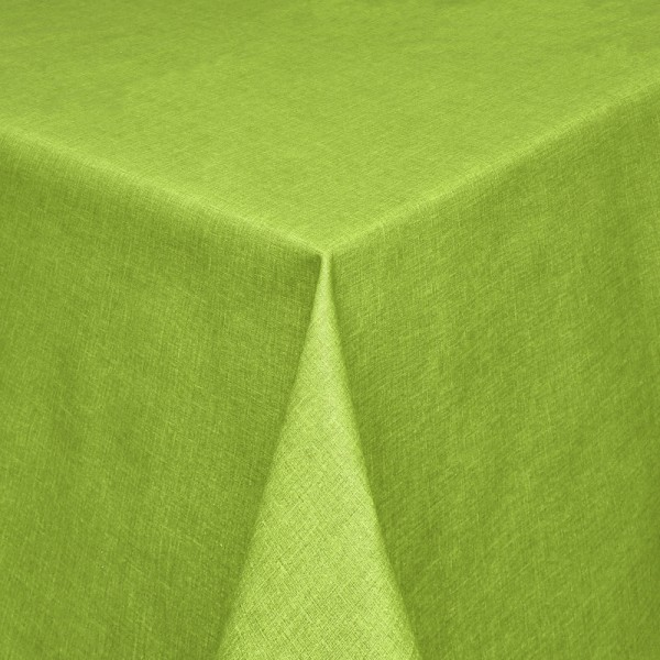 Tischdecken Olbia Jaquard-Gewebe in Apfel-Grün mit Fleckschutz