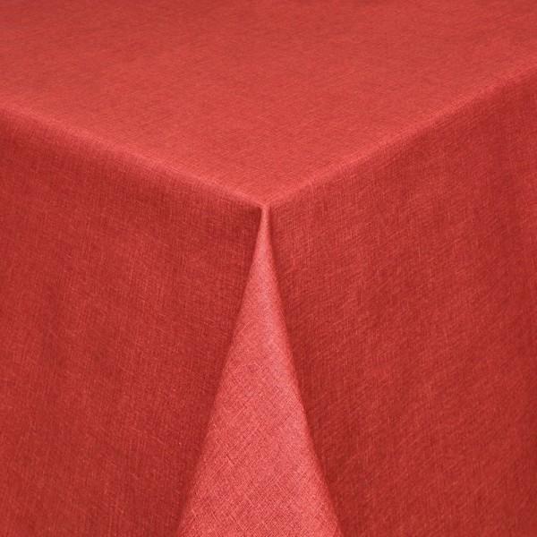 Tischdecken Olbia Jaquard-Gewebe in Rot mit Fleckschutz