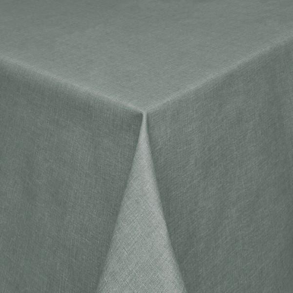 Tischdecken Olbia Jaquard-Gewebe in Silber-Grau mit Fleckschutz