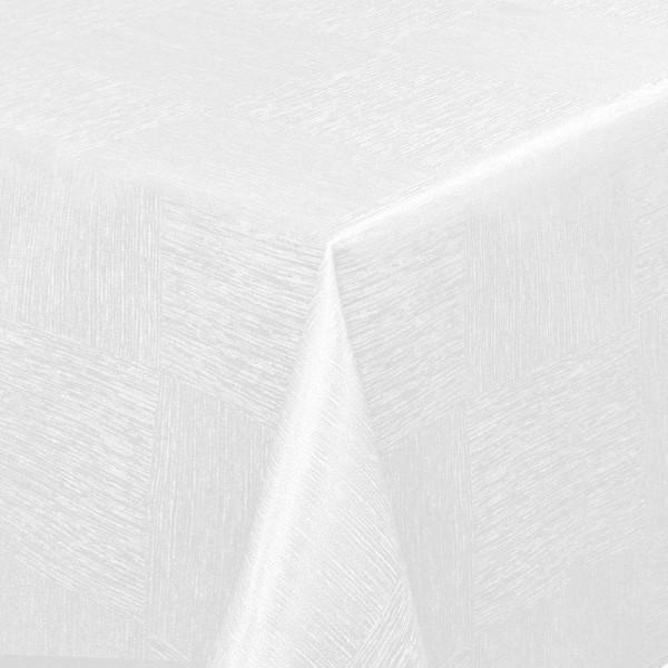 Tischdecken Jacquard-Gewebe mit Fleckschutz und Saum Melilla in Weiss