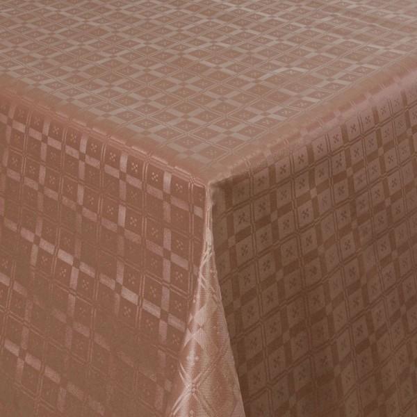 Tischdecke Abwaschbar Wachstuch Relief Quadrato Braun im Wunschmaß
