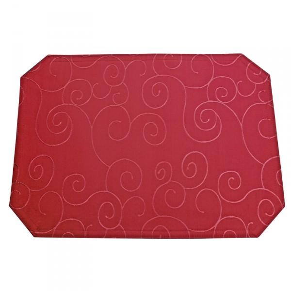 Tischsets Platzsets Ornamente 40x50 cm in Wein-Rot