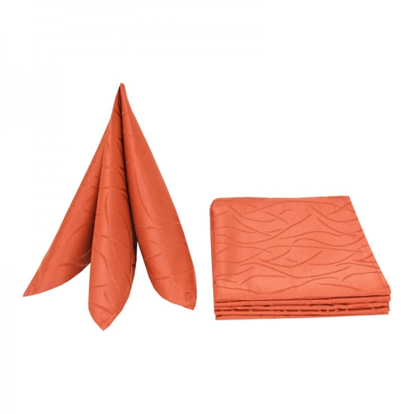 Servietten Damast Streifen 50x50 Orange (6er Pack)