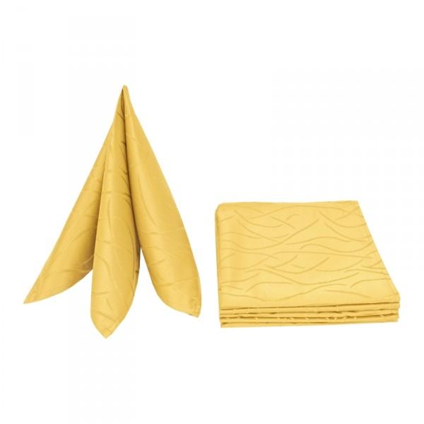 Servietten Damast Streifen 50x50 Dunkel-Gelb (6er Pack)