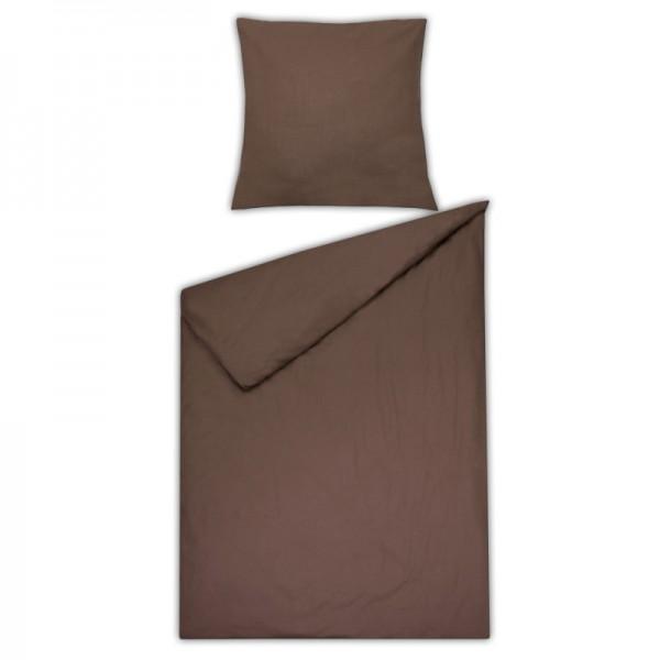 Bettwäsche Moderno Renforcé einfarbig in Braun