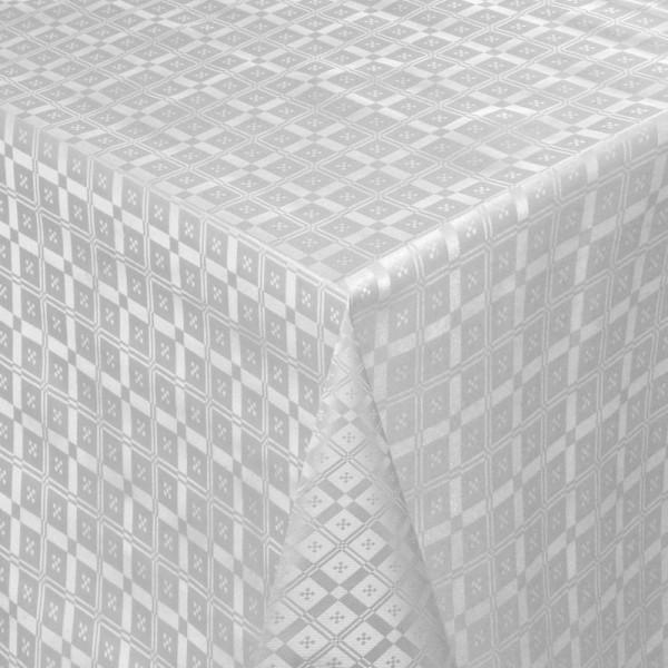 Tischdecke Abwaschbar Wachstuch Relief Quadrato Grau im Wunschmaß
