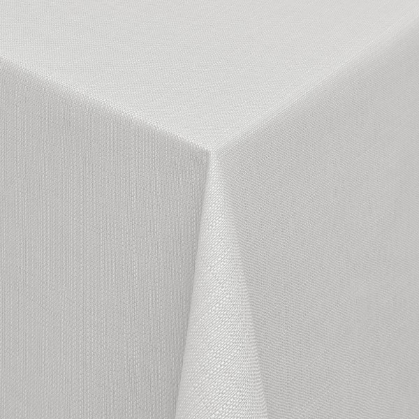 Tischdecken Jacquard-Gewebe mit Fleckschutz und Saum Alicante in Hell-Grau