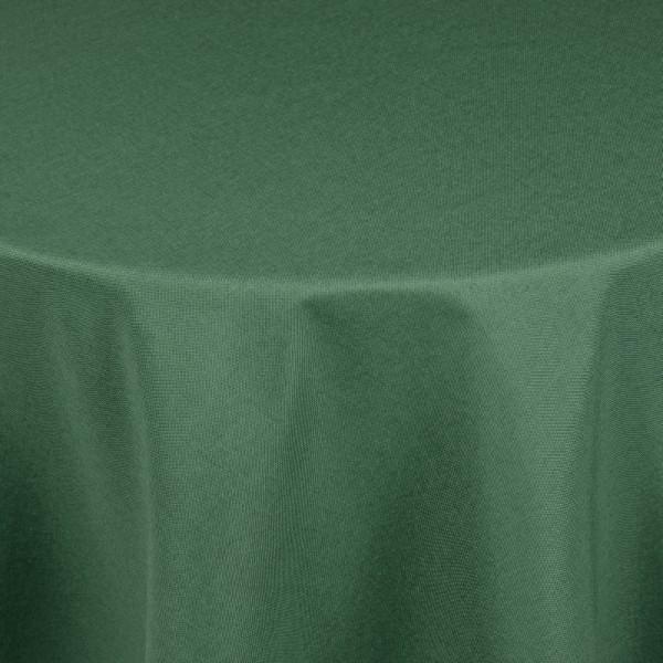 Tischdecken Damast Oval mit Saum Leinen-Optik Dunkel-Grün