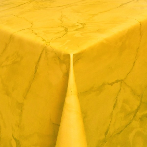 Tischdecke Abwaschbar Wachstuch Lebensmittelecht Marmor Gelb