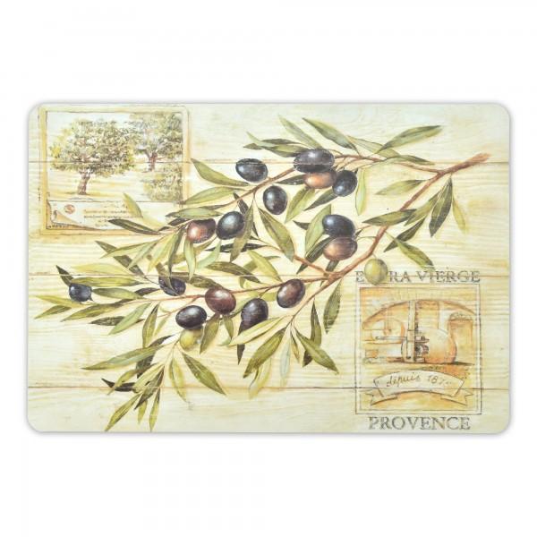 Tischsets Oliven Motiv 6er-Set Platzsets 30x45 cm