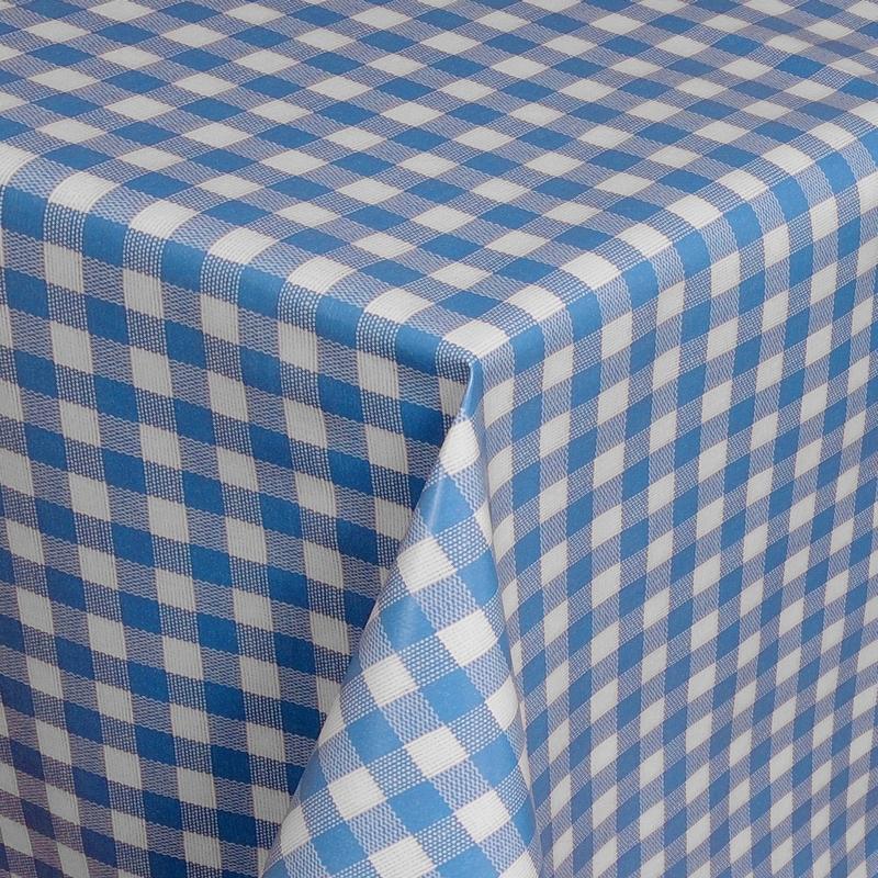tischdecke abwaschbar wachstuch karos blau weiss im wunschma. Black Bedroom Furniture Sets. Home Design Ideas
