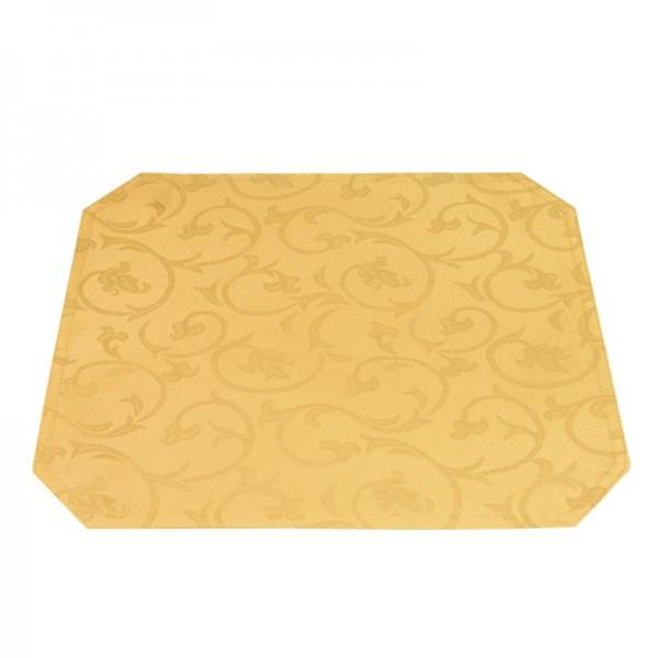 Tischsets Platzsets Barock 40x50 cm in Dunkel-Gelb