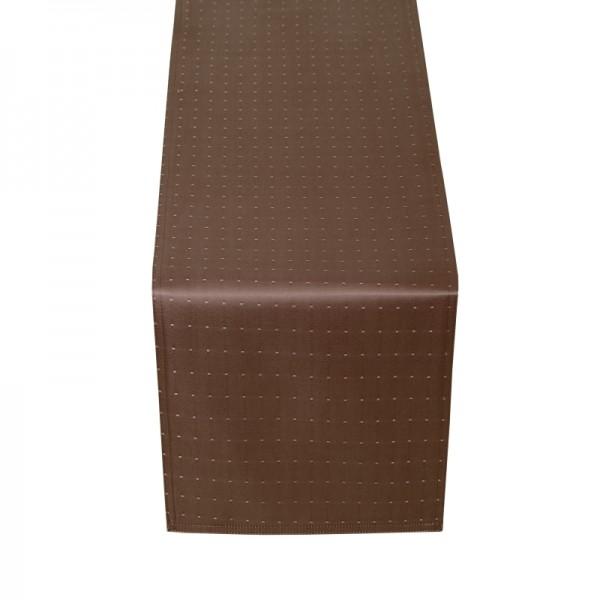 Tischläufer Tischband Punkte in Dunkel-Braun