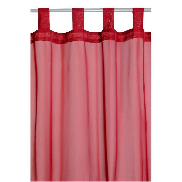 Vorhang Gardine Transparent Schlaufenschal Dekoschal in Rot