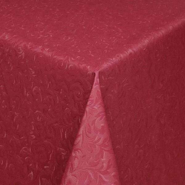 Tischdecke Abwaschbar Wachstuch Relief Ornamente Rot im Wunschmaß