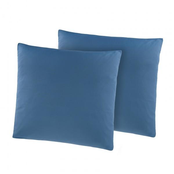Kissenhülle 2er Pack Kissen Kissenbezüge Mikrofaser in Blau