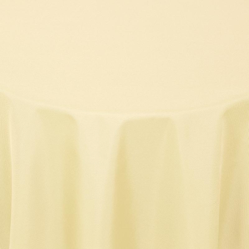 tischdecken damast rund mit saum uni creme beige. Black Bedroom Furniture Sets. Home Design Ideas