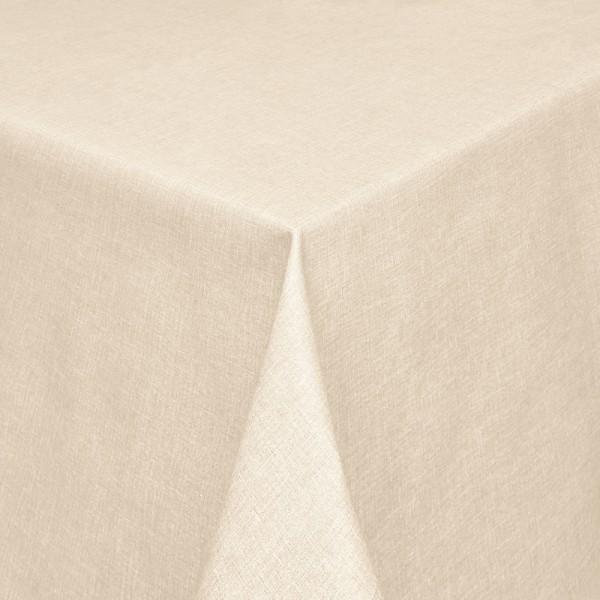 Tischdecken Olbia Jaquard-Gewebe in Beige mit Fleckschutz