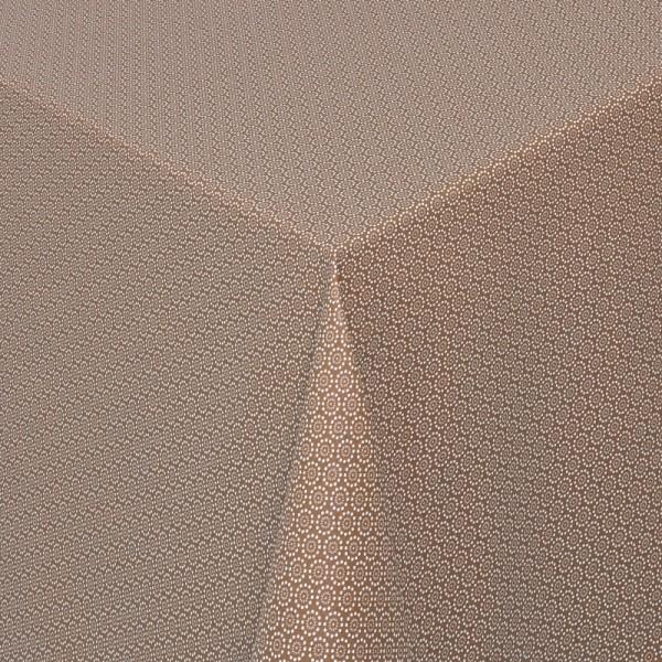 Tischdecken Viterbo 100% Baumwolle in Braun mit Fleckschutz