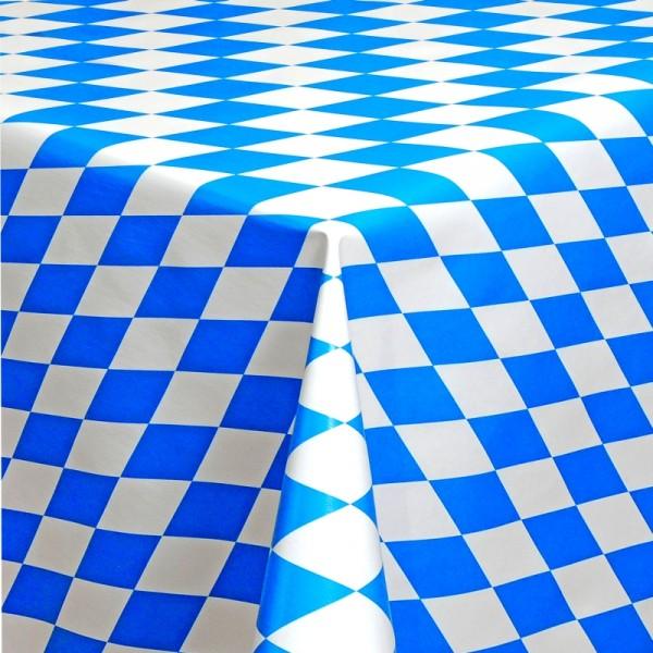Tischdecke Abwaschbar Wachstuch Bayern Motiv Blau Weiss im Wunschmaß
