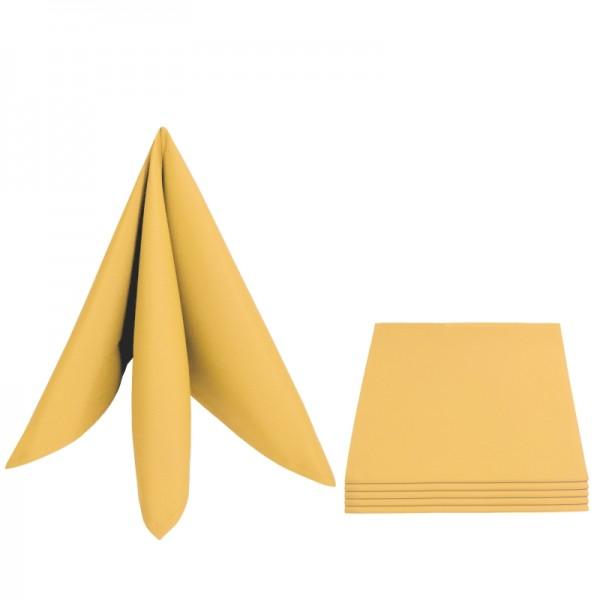 Servietten Damast Uni 50x50 Dunkel-Gelb (6er Pack)