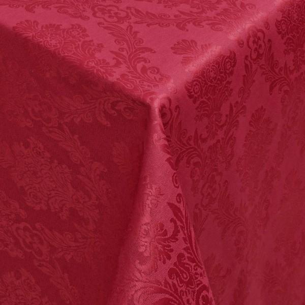 Tischdecken Jacquard-Gewebe mit Fleckschutz und Saum Toledo in Wein-Rot