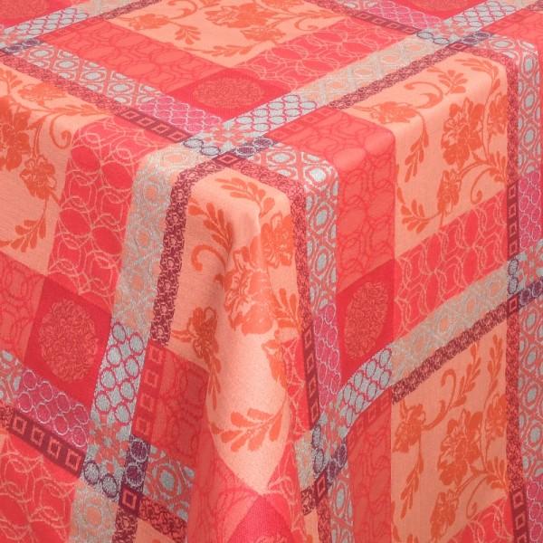 Tischdecken Tivoli 100% Baumwolle mit Fleckschutz in Terra