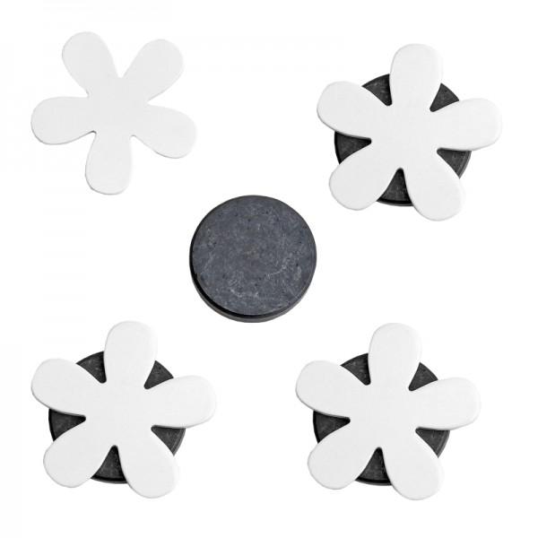 Tischdeckenbeschwerer Blumen Motiv mit Magnet 4er Set