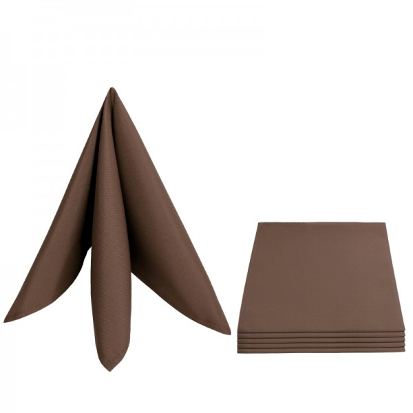 Servietten Damast Barock 50x50 Dunkel-Braun (6er Pack)