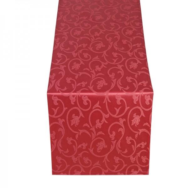 Tischläufer Tischband Barock in Wein-Rot