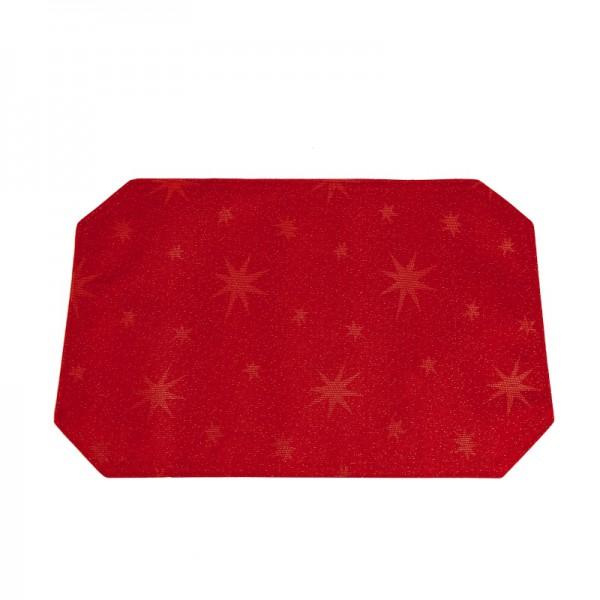Tischsets Platzsets Lurex 30x45 cm in Rot-Gold