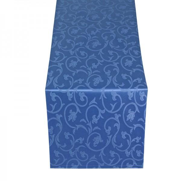 Tischläufer Tischband Barock in Dunkel-Blau