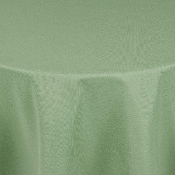 Tischdecken Damast Oval mit Saum Leinen-Optik Lind-Grün