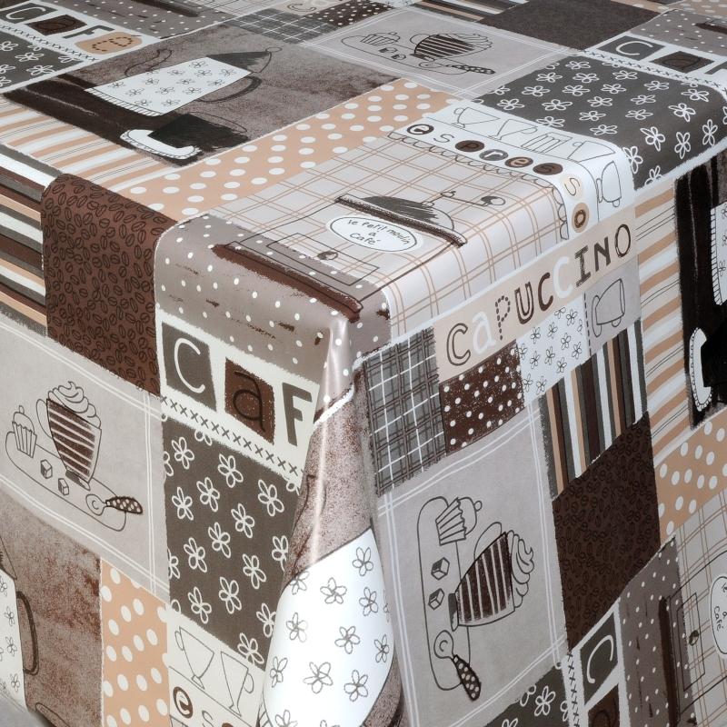 tischdecke abwaschbar wachstuch cafe motiv grau im wunschma. Black Bedroom Furniture Sets. Home Design Ideas