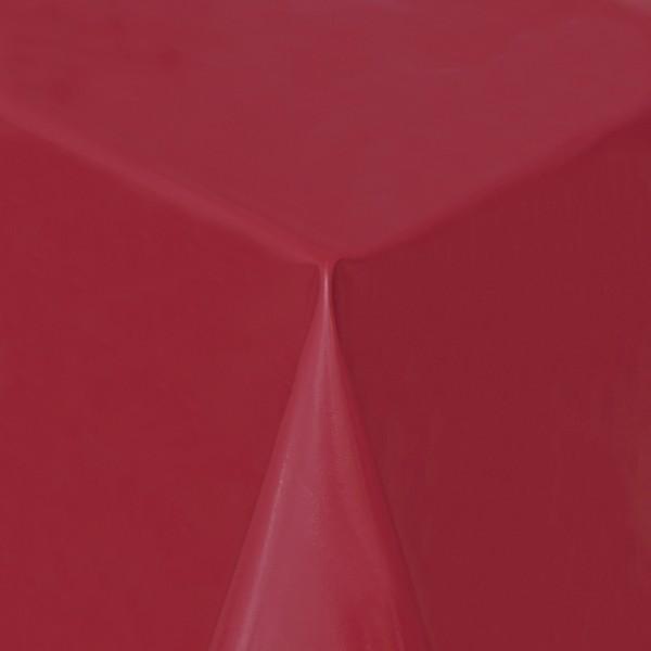 Tischdecke Abwaschbar Wachstuch Lebensmittelecht einfarbig Wein-Rot