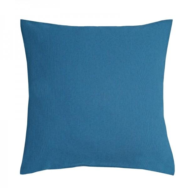 Kissenhülle Leinen-Optik Sofa Kissen Deko in Dunkel-Blau