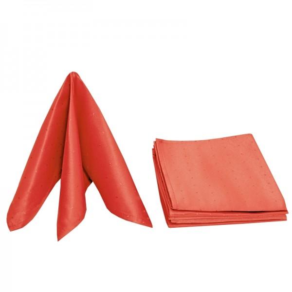 Servietten Damast Punkte 50x50 Orange (6er Pack)