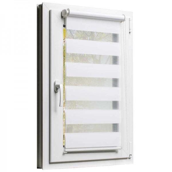 Fensterrollo mit Kettenzug und Klemmfix ohne bohren in Weiss