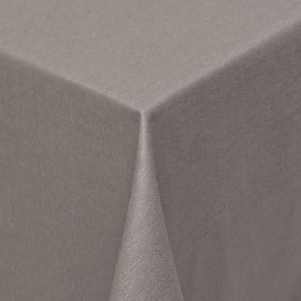 Tischdecken Jacquard-Gewebe mit Fleckschutz und Saum Parla in Braun