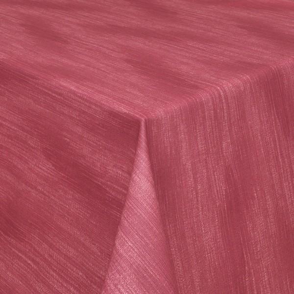 Tischdecken Wisch-Optik Jaquard-Gewebe mit Fleckschutz in Rot