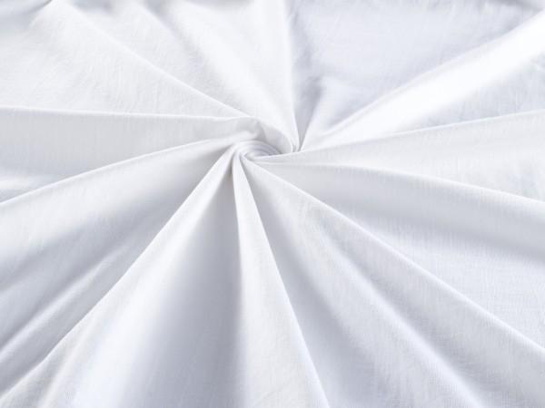 Spannbetttuch Jersey Stretch Steghöhe 28cm Spannbettlaken in Weiss
