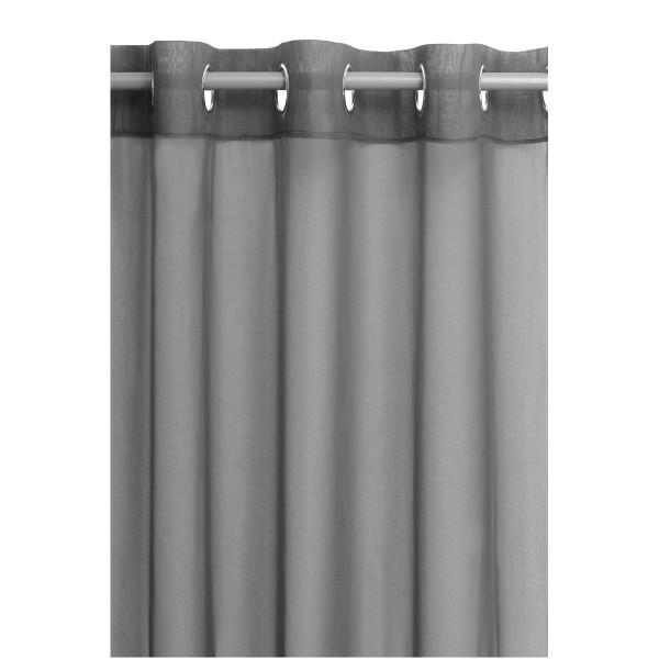 Vorhang Gardine Transparent Ösenschal Dekoschal mit Ösen in Grau
