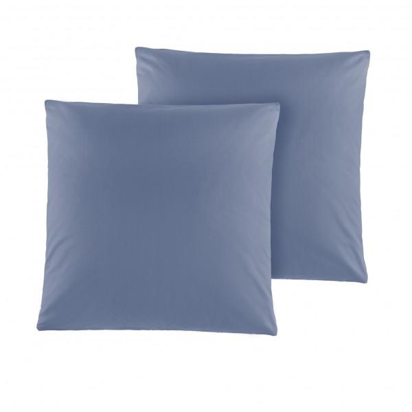 Kissenhülle 2er Pack Kissen Kissenbezüge Renforce in Jeansblau