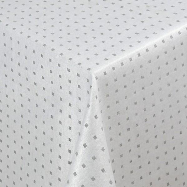 Tischdecken Jacquard-Gewebe mit Fleckschutz und Saum Helsinki in Grau