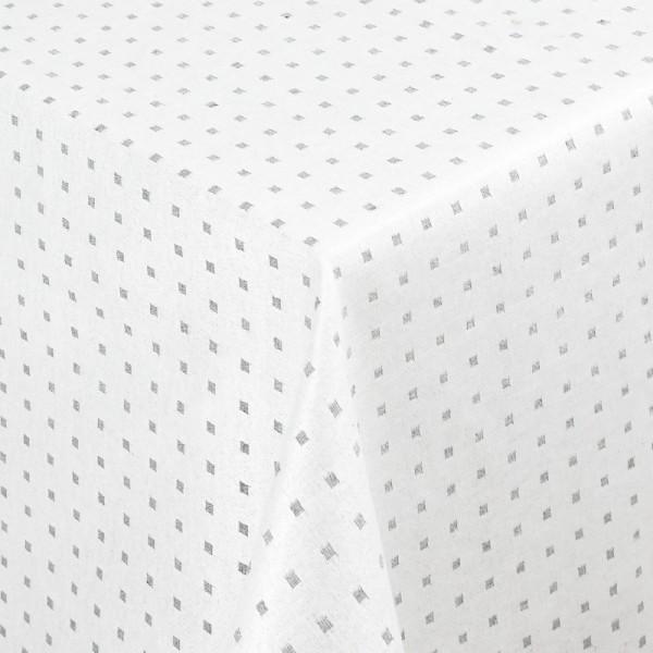 Tischdecken Jacquard-Gewebe mit Fleckschutz und Saum Helsinki in Weiss