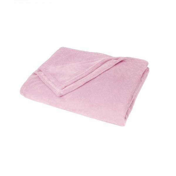 Kuscheldecke Supersoft Tagesdecke Wohndecke Bettüberwurf in Rosa